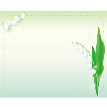 [フリーイラスト] すずらんの花の飾り枠でアハ体験 - GAHAG | 著作権フリー写真・イラスト素材集