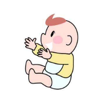 赤ちゃんのイラスト|イラスト素材の素材ダス