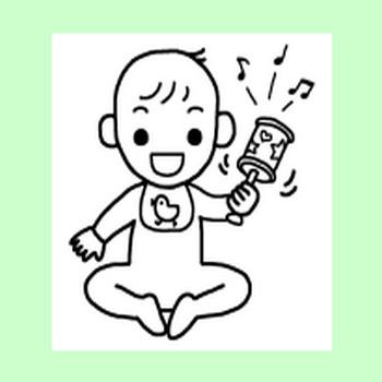 赤ちゃんの遊び1/赤ちゃん/人物/無料イラスト【みさきのイラスト素材】