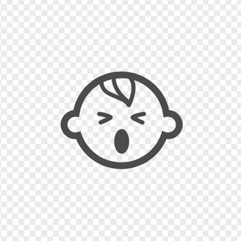 ないている赤ちゃんのイラスト | アイコン素材ダウンロードサイト「icooon-mono」 | 商用利用可能なアイコン素材が無料(フリー)ダウンロードできるサイト