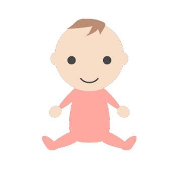 赤ちゃん(女の子)のシンプルイラスト <無料> | イラストK