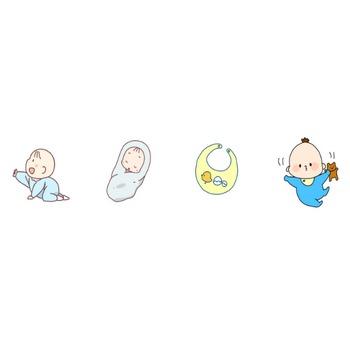 赤ちゃんのイラスト | かわいいフリー素材が無料のイラストレイン