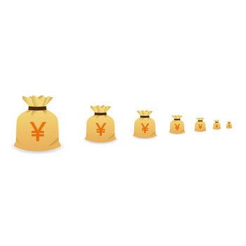 お金-金袋 - アイコン素材