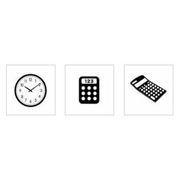 数字|シルエット イラストの無料ダウンロードサイト「シルエットAC」