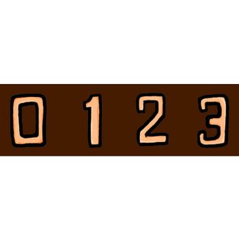 数字(その2)の素材イラスト | イラスト素材:パンコス