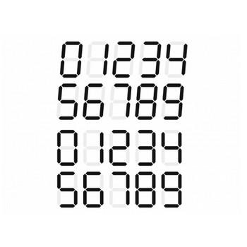 デジタル数字のイラスト素材 | イラスト無料・かわいいテンプレート