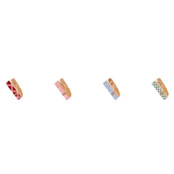 洗濯ピンチ(WEB素材) - イラスト無料素材〜桜〜イラスト素材を無料(フリー)配布 /季節/人物/花/雑貨/A4テンプレート/等