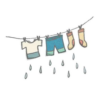洗濯物-01のイラスト | かわいいフリー素材が無料のイラストレイン