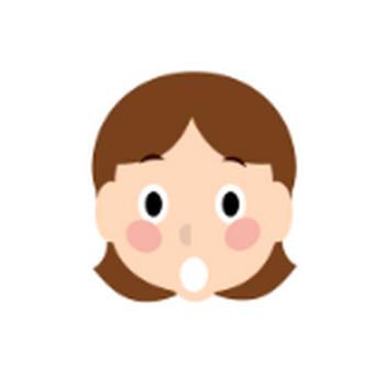 女の子の顔(表情)のイラスト|イラスト素材の素材ダス