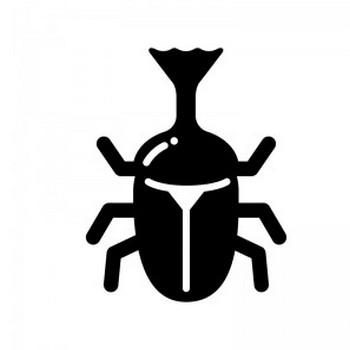 カブトムシのシルエット | 無料のAi・PNG白黒シルエットイラスト