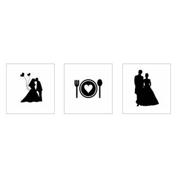結婚式|シルエット イラストの無料ダウンロードサイト「シルエットAC」