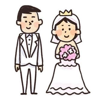 新郎新婦のイラスト(結婚式): ゆるかわいい無料イラスト素材集