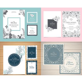 素敵なデザインがいっぱい!結婚式やパーティの招待状に使える無料のテンプレート素材 | コリス