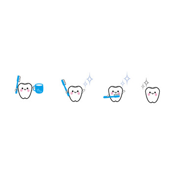 歯(はみがき)イラスト-無料(フリー)素材