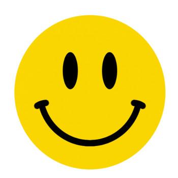 ニコちゃんマーク(ニコニコマーク・スマイルマーク)のイラスト<黄色・白黒> | 無料フリーイラスト素材集【Frame illust】