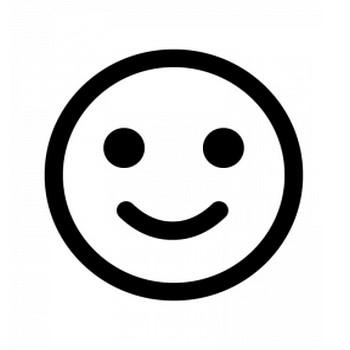 スマイル・笑顔のシルエット | 無料のAi・PNG白黒シルエットイラスト