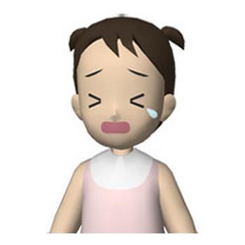 人物の無料イラスト素材 泣き顔の赤ちゃん(女)