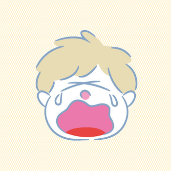 男の子の顔1(泣き顔) | ファミリーイラストフリー素材