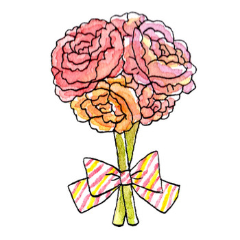 バラの花束のイラスト | かわいいフリー素材が無料のイラストレイン