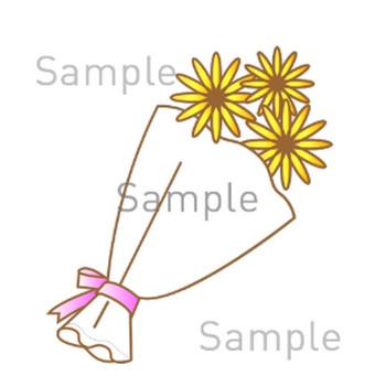 花束の無料イラスト素材|登録不要のイラストぱーく