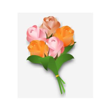 バラの花束のイラスト | 無料イラスト作成ソフトInkscape(インクスケープ)の作品集