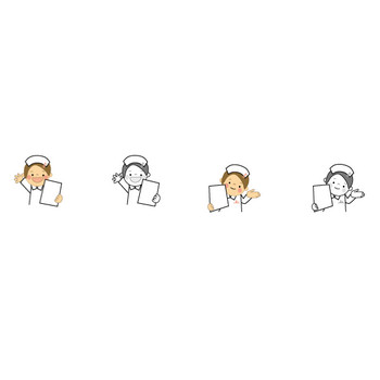 看護師のイラスト(看護婦・ナース)無料イラスト・フリー素材