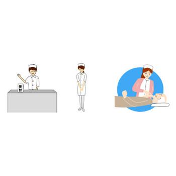 看護師/看護婦の無料イラスト