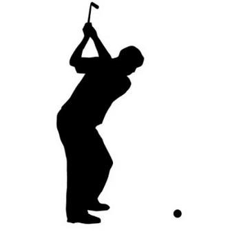 ゴルフスイングをする男性の影絵イラスト   【無料配布】イラレ/イラストレーター/ベクトル パスデータ保管庫【ai・eps ベクター素材】