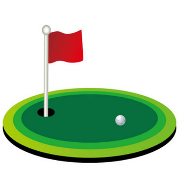 [無料イラスト] ゴルフのグリーン - パブリックドメインQ:著作権フリー画像素材集