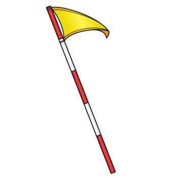 ゴルフ28-フラッグ の無料イラスト-イラストポップのスポーツクリップアートカット集