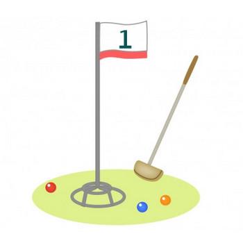 グラウンドゴルフの道具のイラスト   イラスト無料・かわいいテンプレート