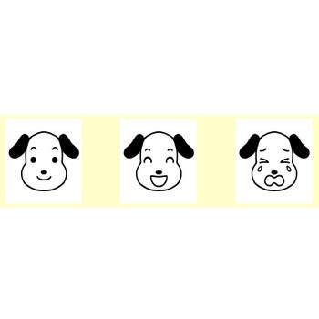 イヌ・ネコ(犬・猫)1/動物の顔/無料イラスト【白黒イラスト素材】