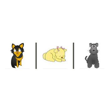 動物の無料イラスト一覧2「犬&猫」・イラストレーターより