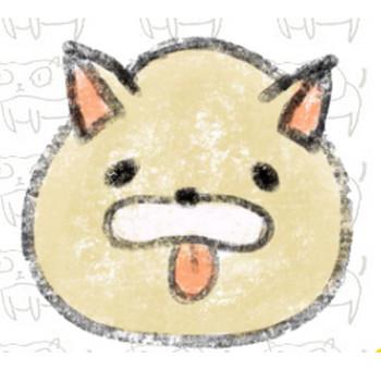 舌を出す犬のイラスト | ゆるくてかわいい無料イラスト素材屋「ぴよたそ」