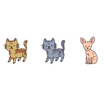 猫のイラスト | かわいいフリー素材が無料のイラストレイン