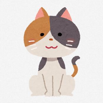 三毛猫のイラスト | かわいいフリー素材集 いらすとや