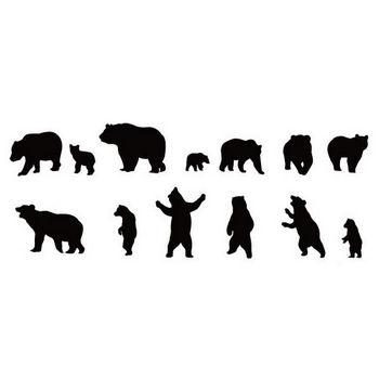 クマのシルエット | シルエットデザイン