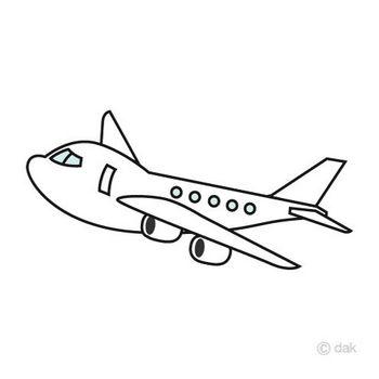 かわいい飛行機の無料イラスト素材|イラストイメージ
