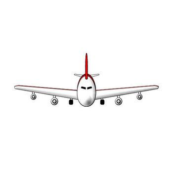 飛行機のイラスト|フリー素材 イラストカット.com