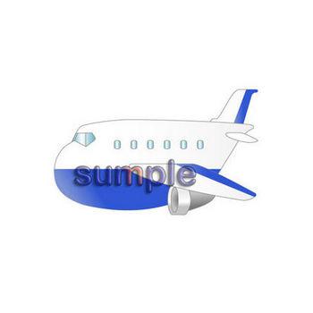 0097飛行機/フリーイラストのダウンロード・イラスト7