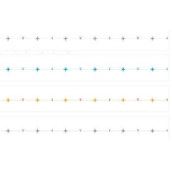 飛行機のライン素材 2 | 罫線・飾り罫ライン素材 FREE LINE DESIGN