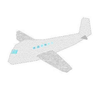 飛行機のコラージュ風イラスト <無料> | イラストK