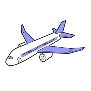 「飛行機」フリーイラスト | シンプルフリーイラスト