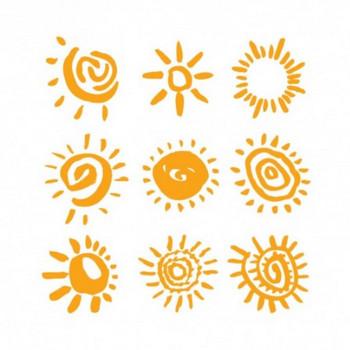 無料ダウンロード!素朴でかわいい太陽のベクターイラスト素材 約150個まとめ(EPS) - Free-Style