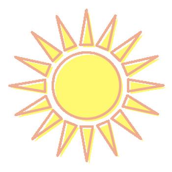 夏のイラスト-太陽01:夏のそざい:キッズ@nifty