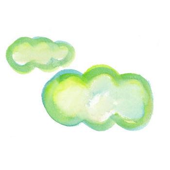 雲|Sui-Sai|水彩画イラストフリー素材集