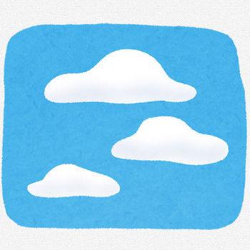 雲が浮かぶ空のイラスト | かわいいフリー素材集 いらすとや