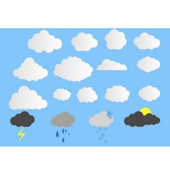 雲のイラスト素材!天気のアイコンに自然のデザインに★ - チコデザ