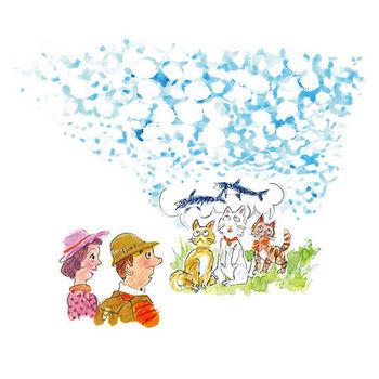 介護現場で使えるフリーイラスト集・イワシ雲【MY介護の広場】