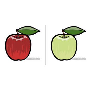 リンゴのイラスト | 素材屋小秋